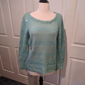 Apt 9 mint colored sparkly sweater